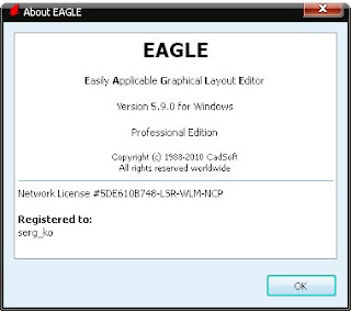eagle about%5B1%5D CadSoft Eagle Professional 5.9.0