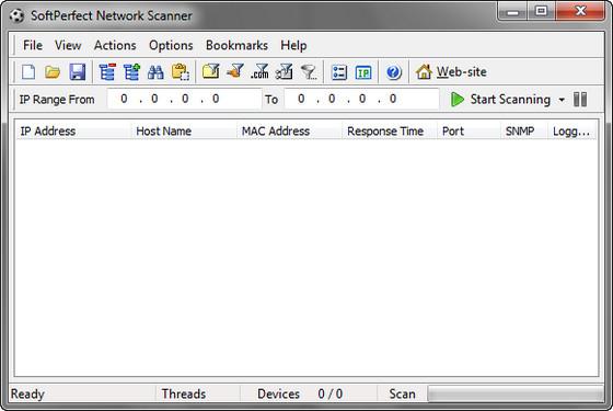 SoftPerfect Network Scanner - программа представляет собой многопоточный IP