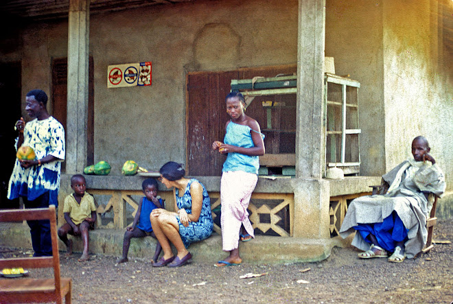 Pa Cook, Susan and TTC student Esther Kajué - Dama Rd in Kenema