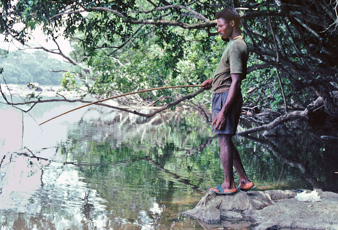 Patrick Garlough fishing near Vaama on River Moa