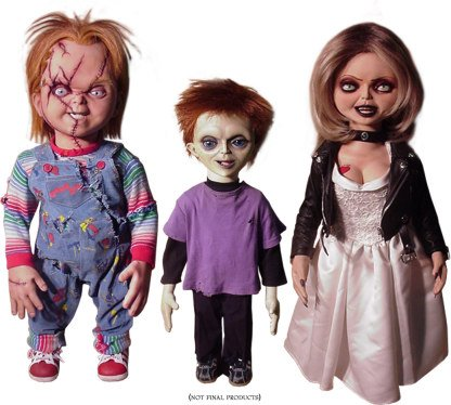 Chucky and Tiffany dolls  
