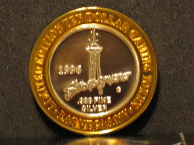 Vegas casino silver coins
