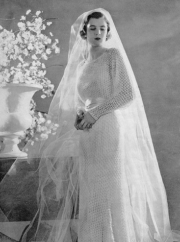 My 30s dream wedding gown hands down would be a crocheted one