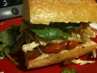 spoonful of sugar: Chicken and Brie Sandwich with Roasted Tomato