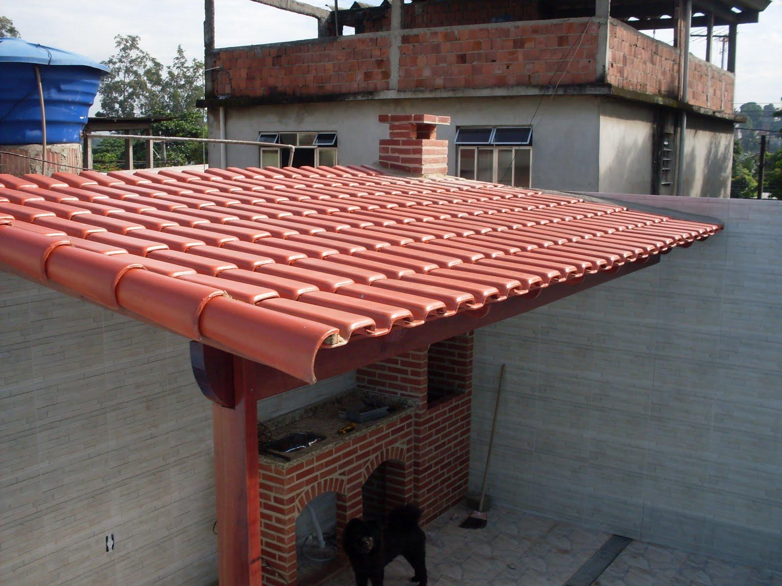 ZANI Churrasqueiras telhados e projetos: Telhado colonial montado #A24429 1600x1200