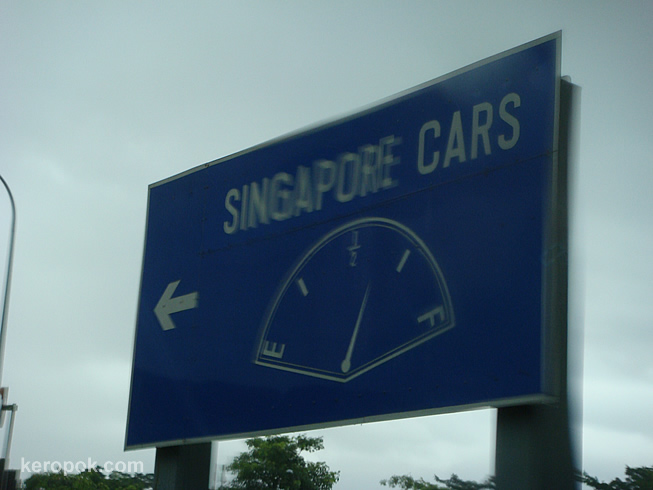 Get Fined If Drive Leaving Singapore Border Without Fuel Tank Three Quarter Full