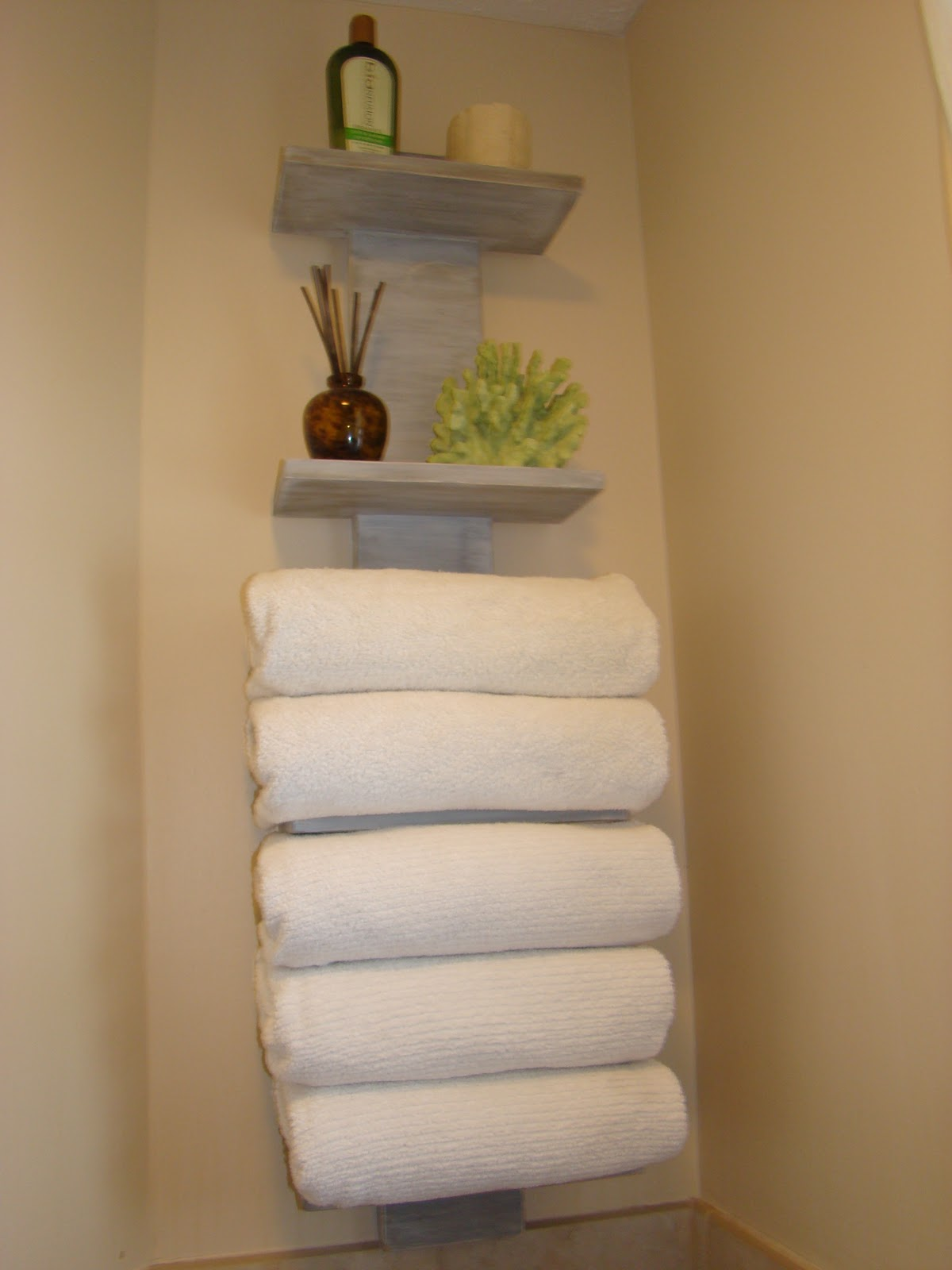 My bath FINALLY gets some towel storage!
