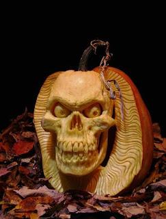 skeleton jack o'lantern pumpkin