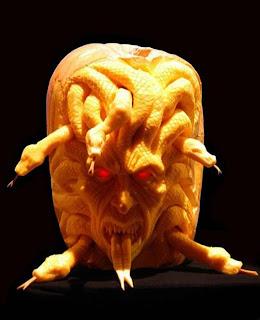 medusa jack o'lantern pumpkin