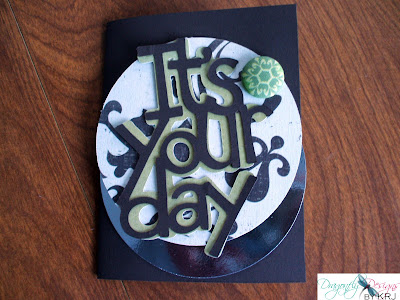 Dragonfly Designs by KRJ: Cricut Birthday Card