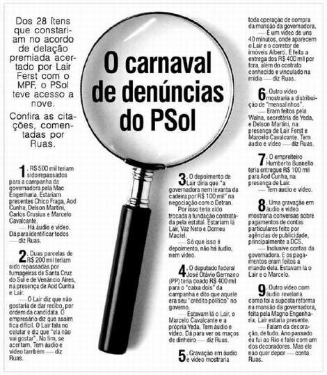 Entrevista em que Pedro Ruas afirma o que viu de provas contra governo Yeda Crusius