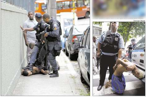 PMs do Rio algemam e pisam na cabeça de presos