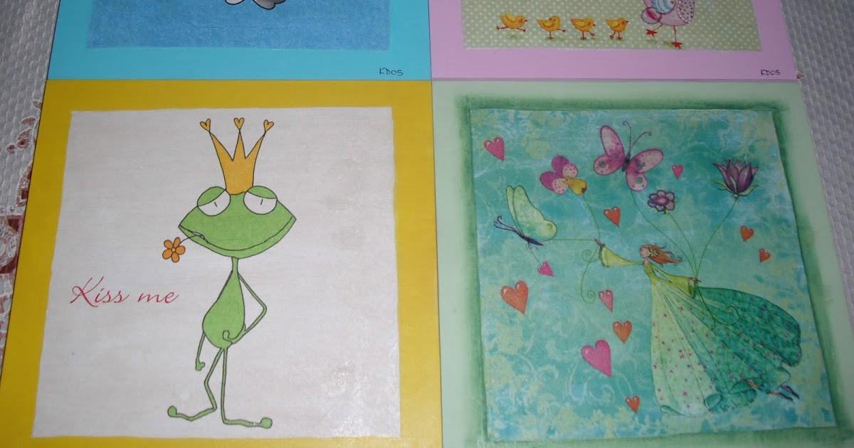 Arte kdos cuadros infantiles con decoupage kids pictures - Donde estudiar pintura ...