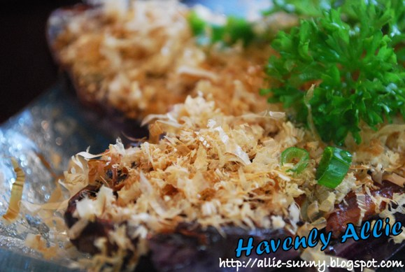 Grilled Eggplant topped with Fish Flakes 2