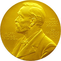 Medal of the Nobel prize in medicine
