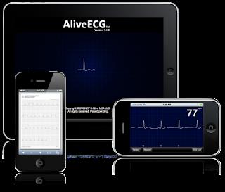 L'Application AliveECG de AliveCor sur iPhone 4