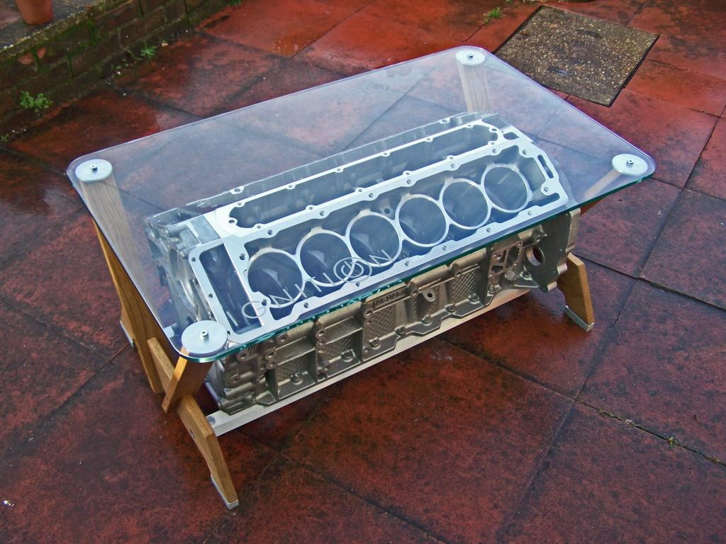 Tamerlanes Thoughts Jaguar V12 coffee table and bonus