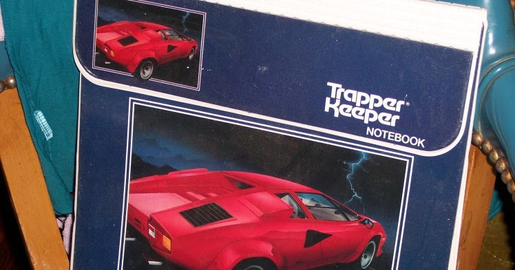Tamerlane S Thoughts Lamborghini Countach Trapper Keeper
