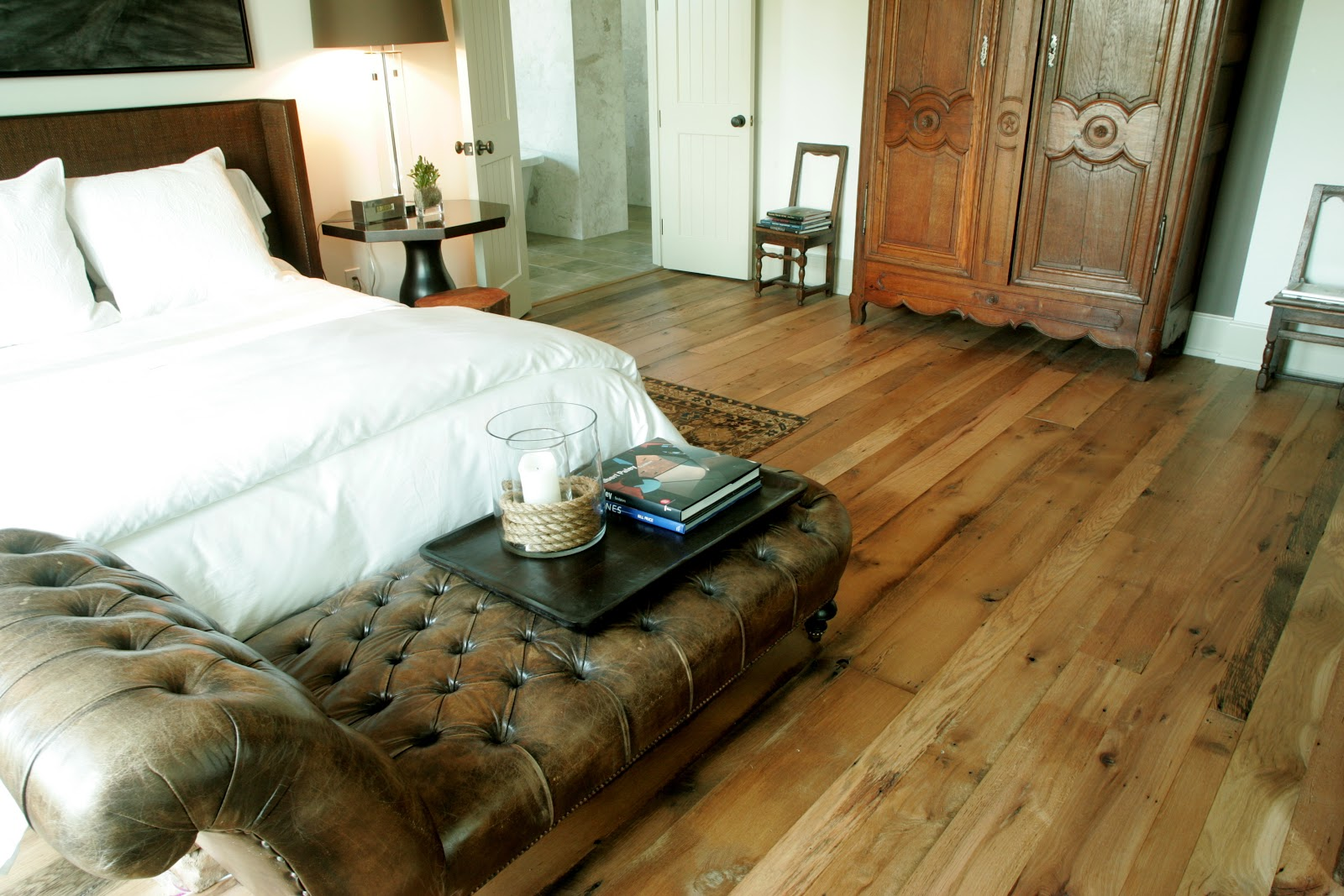 Condo blues reclaimed barnwood floors yea or nay for Reclaimed hardwood flooring