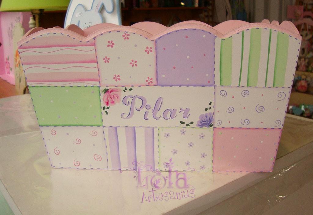 Lola artesan as caja portacosmeticos con patchwork - Cajas decoradas para bebes ...