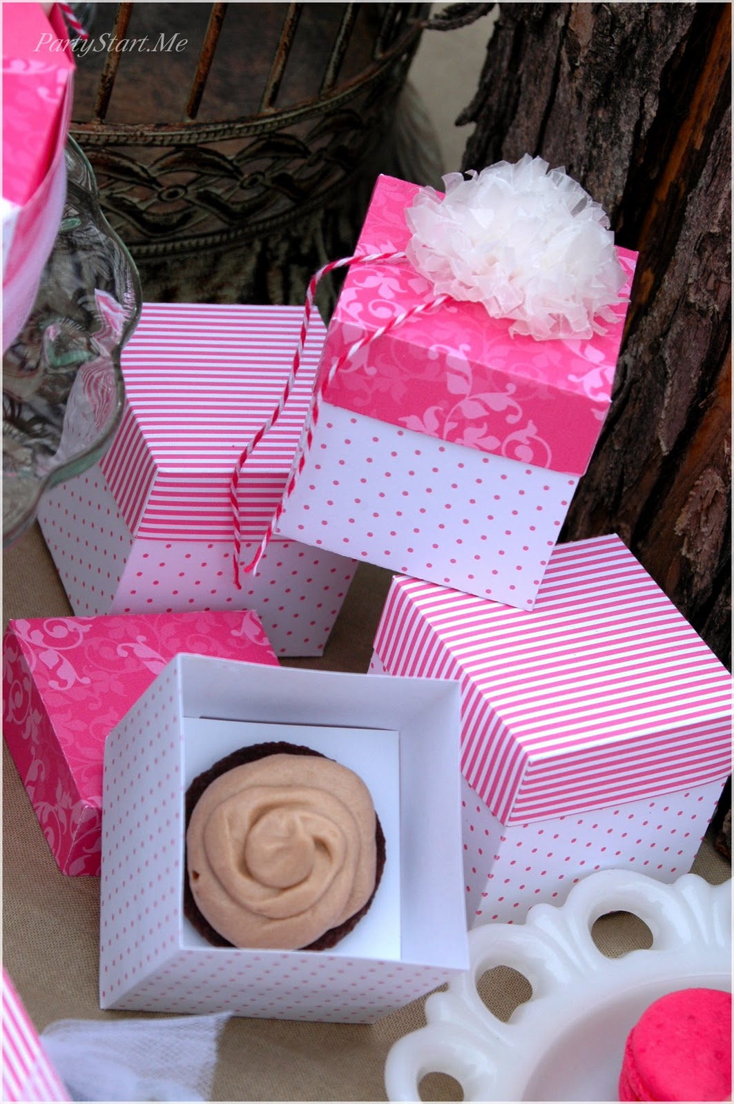 Mini Cupcake Favor Boxes