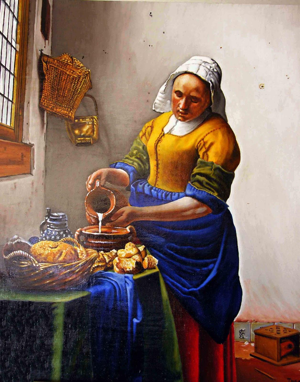 T o g a r tom s garc a la lechera - La lechera de vermeer ...