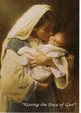 Besando la cara de Dios...