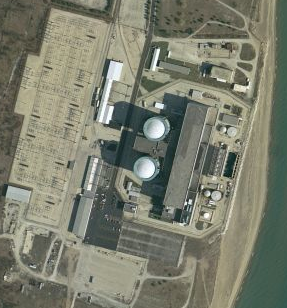 Satellite View of Zion Nuclear Power Station