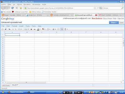 Tutoriales: hoja de calculo en google docs