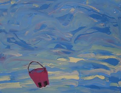 Abandoned pink bucket