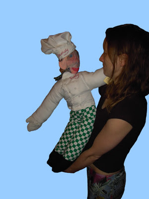 Eloise O'Hare with the Replacement Daddy Doll