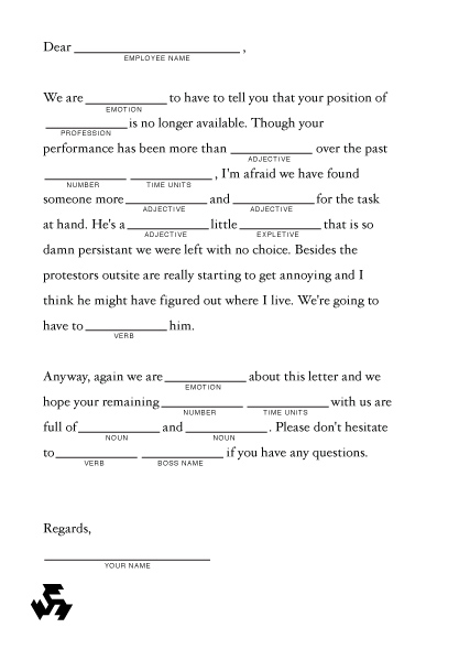 sample lay off letter template .
