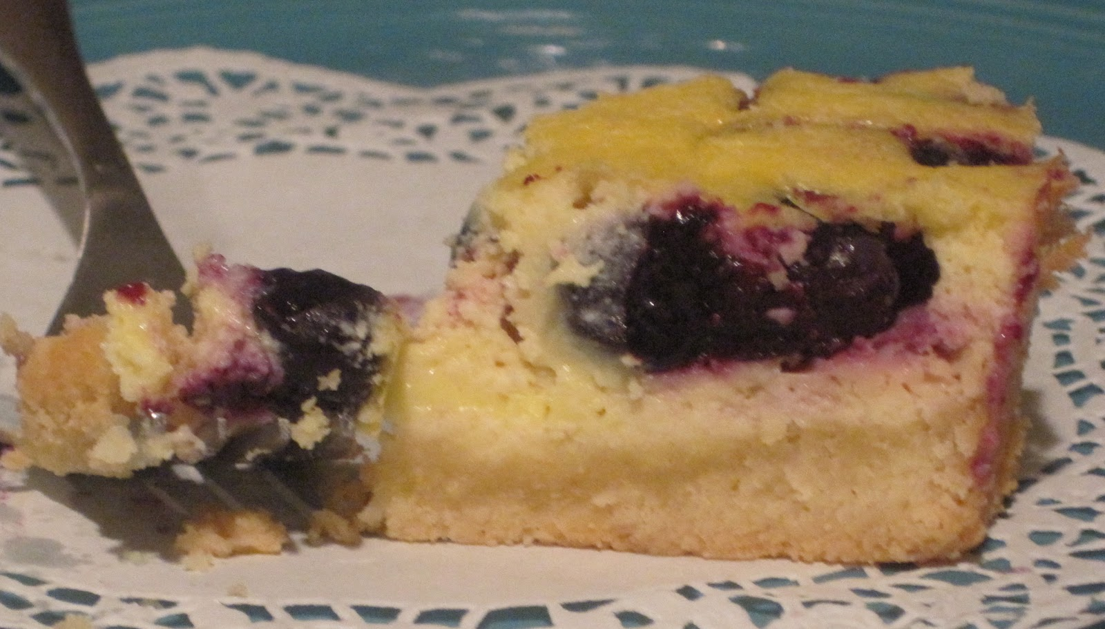 Until The Thin Lady Sings: Blueberry Lemon Bars with Stevia