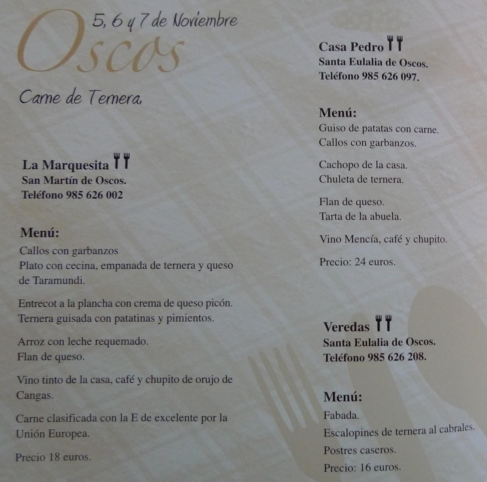 Tony vacaciones y derivados iii jornadas gastron micas - Casa pedro santa eulalia de oscos ...