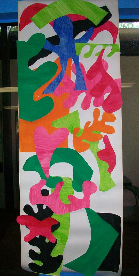 Henri matisse painting with scissors modern art 4 kids for Artists who use shapes in their paintings