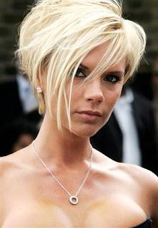 Victoria Beckham Short Blonde Bob Haircuts