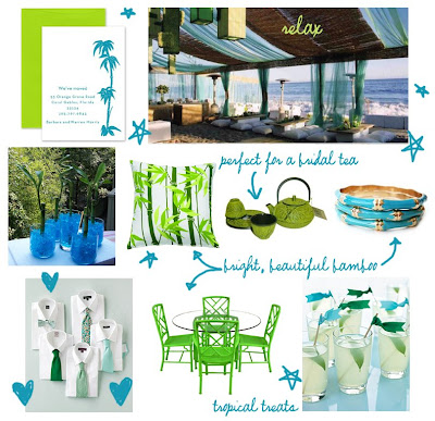 Noted. | FineStationery.com: Wedding Wednesday: Turquoise and Lime ...