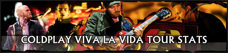 Coldplay - Viva La Vida Tour Stats