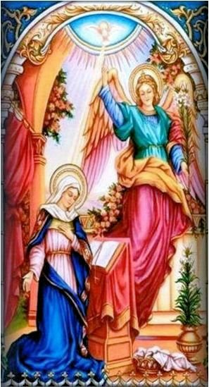 Bog Šalje anđela Gabrijela.