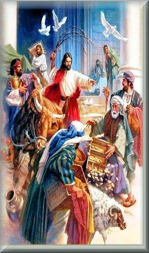 Isus istjeruje trgovce iz Hrama