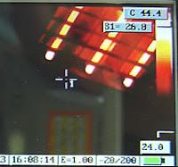 cámara termográfica calibración amperis