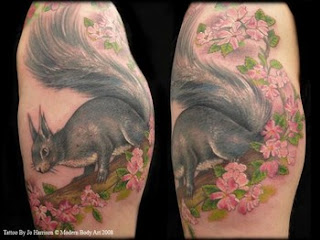 Squirrel Tattoo Design for Body