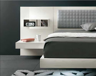black and white Luxury bed design