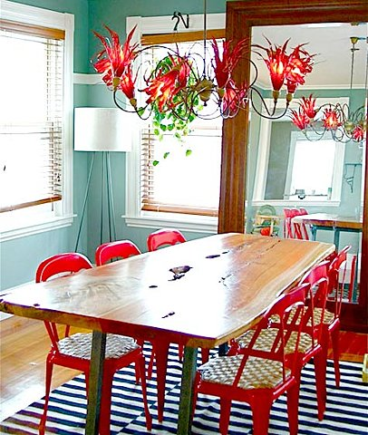 Red+and+turquoise+room