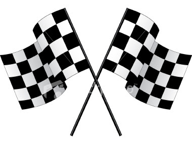 Black  White Clip  Auto Racing on Black And White Clip Art  Flag Clipart Black And White