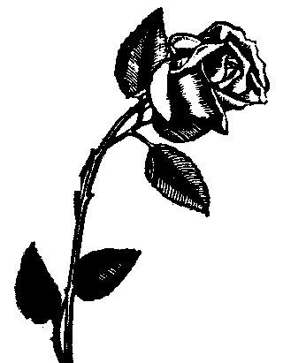 clip art flowers black and white. clipart flowers black and