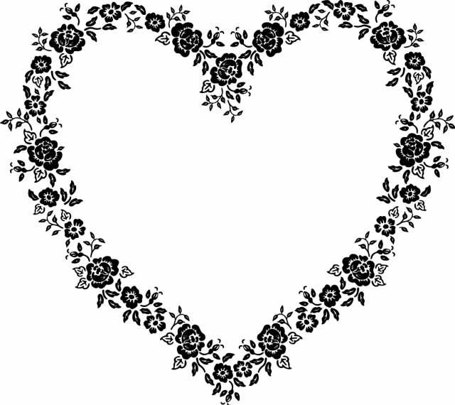 clip art heart. Garland and Heart Clipart