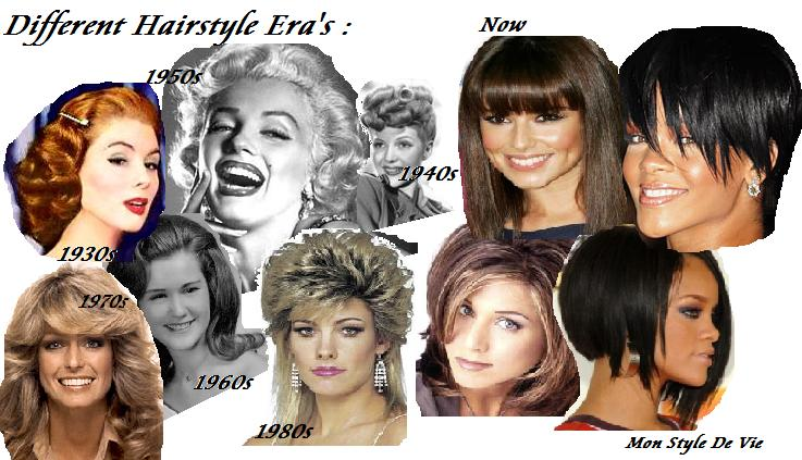 Mon Style De Vie Hairstyles Different Era 39 S