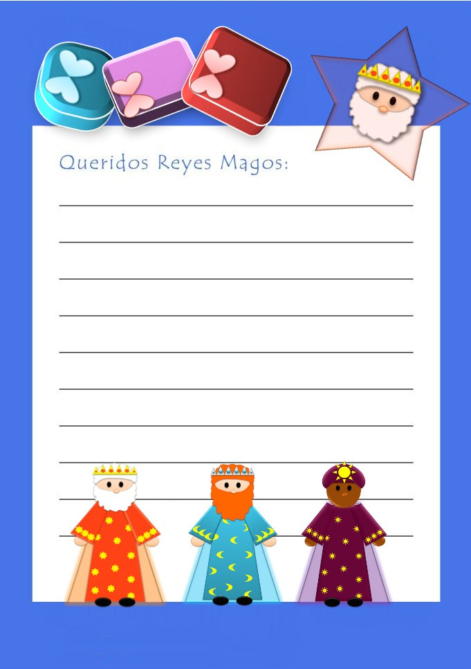 Worksheet. Con mis chicos en el mundo Carta a los Reyes Magos