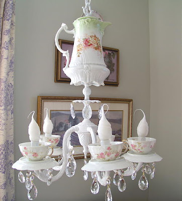 Pretty Fancy Tea Cup Chandeliers | Creative Fat Grrl